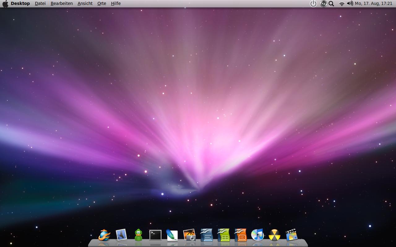 Ubuntu 9.04 mit OS X Style